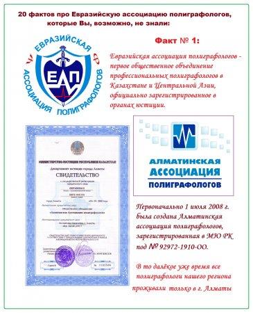 20 фактов про Евразийскую ассоциацию полиграфологов